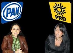 Mariana Gómez del Campo y Alejandra Barrales, presidentas del PAN y PRD en el DF, respectivamente