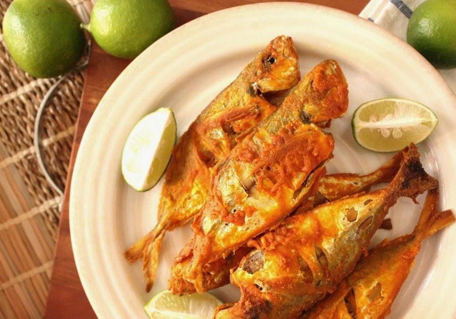 ... on a Cake: CRISPY FRIED FISH WITH SAMBAL AND A GREEN MANGO SALAD