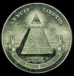 Smbolo Illuminati en el dorso del billete de un dlar