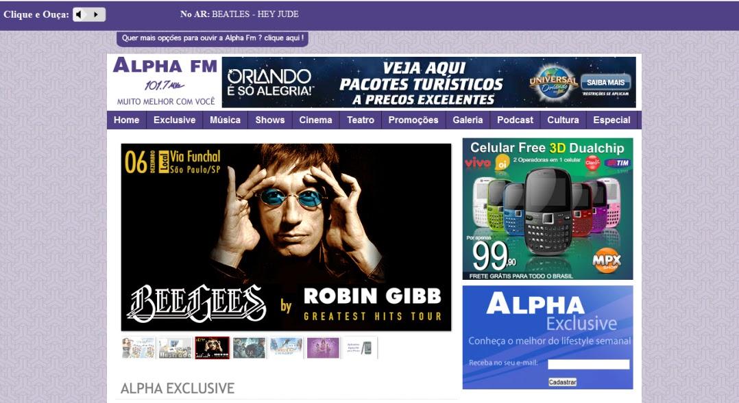 moiseslaba.com, mais uma dica legal pra você! ALPHA FM,  SÃO PAULO
