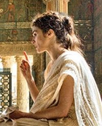 Rachel Weisz as Hypathia in the movie Agora