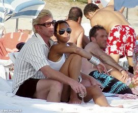 Boris and his woman on the beach...