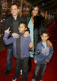 Actor Brian Robbins with his wife and family...