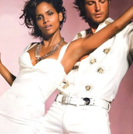 Halle and her beautiful man model together...