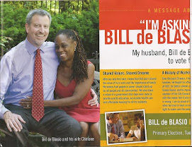 Bill  Deblasio proudly campaigns beside his beloved wife -chirlane