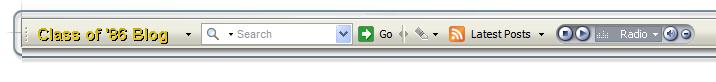 Blog Toolbar