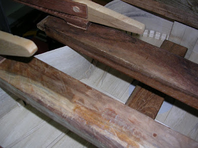 Gluing individual kerf blocks
