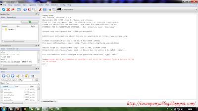 Tampilan QtOctave yang full GUI.
