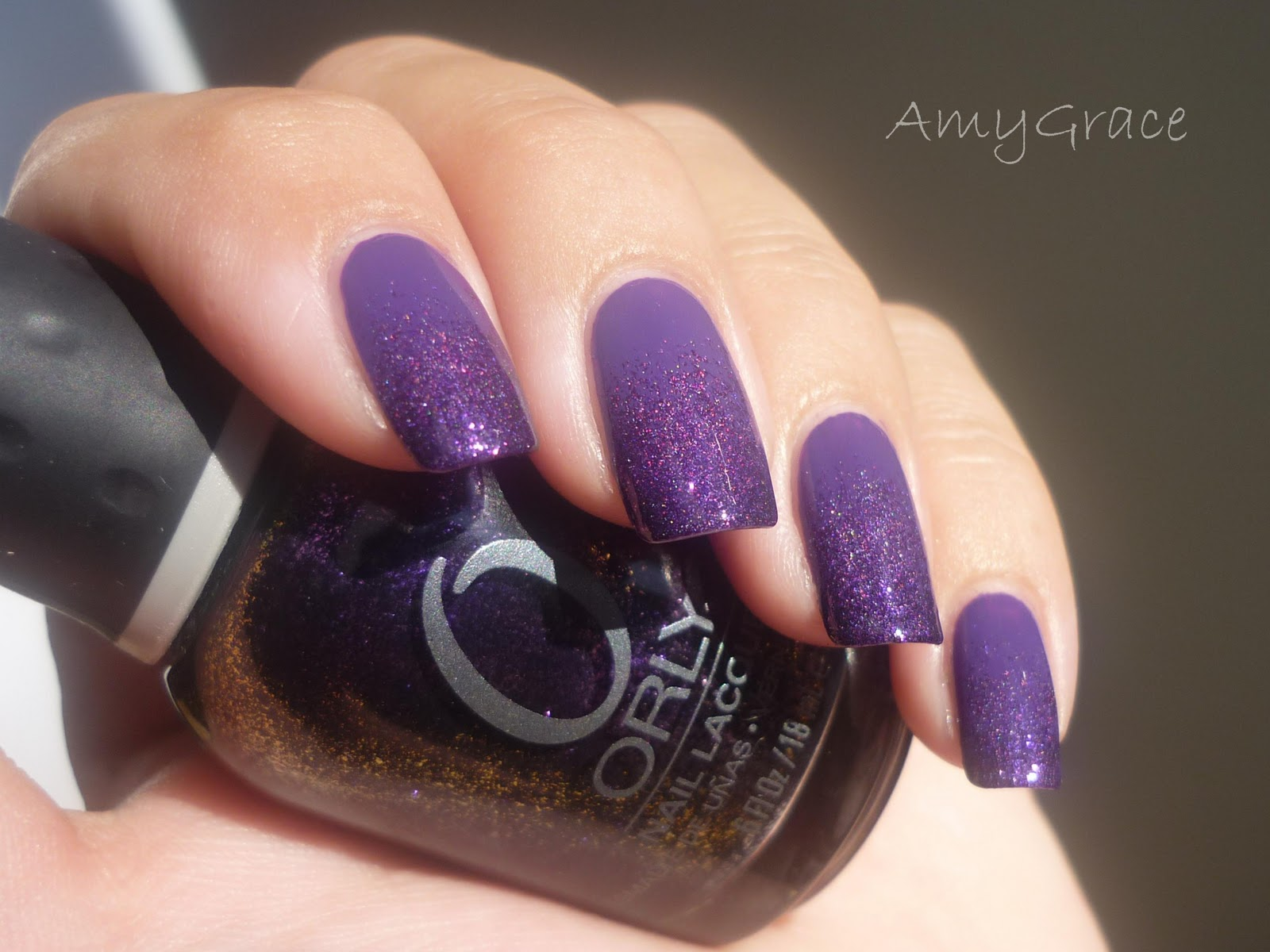 The Polished Perfectionist: Purple Gradient Nails