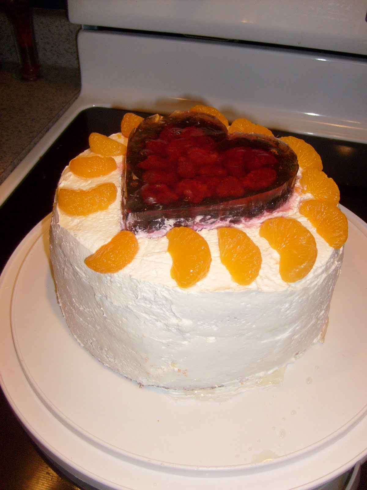 Orange Dreamsicle Cake With White Cake Mix