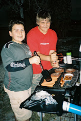 My son, Jimmy (on right), and Jake making dinner on a campout