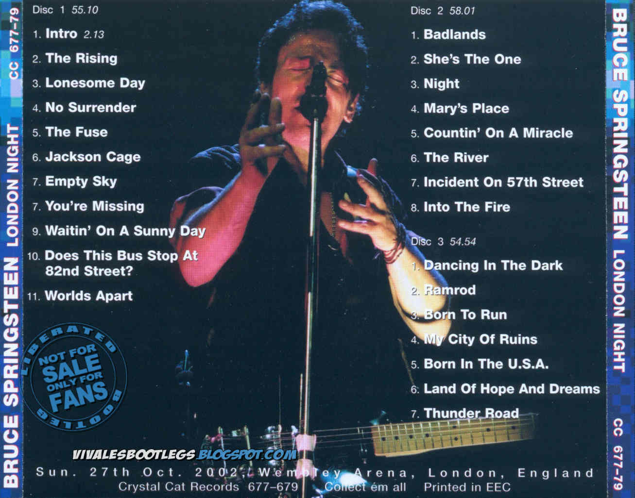 Bruce Springsteen: London Night. (Crystal Cat Records :: CC 677-79)