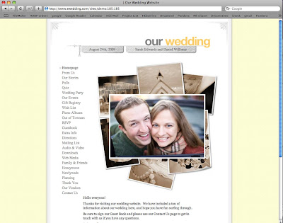 Wedding Site on Bridal Buzz  Wedding Websites Over Wedding Registries