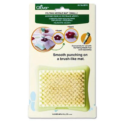 Clover borstelblok - felting mat klein