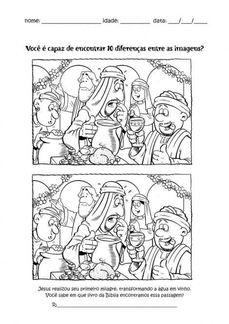 Fichas para niños Las bodas de Caná. Publicado por Franciscanos Valladolid