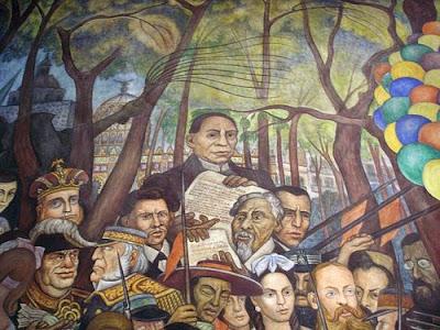 Spanglish 5 de mayo for Benito juarez mural