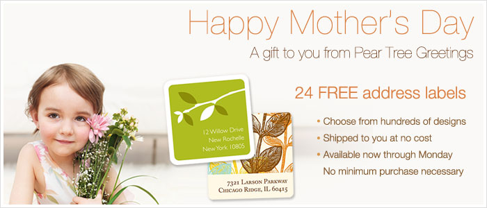 My kansas city mommy 2010 05 02 head on over to peartreegreetings to grab 24 free address labels free shipping just create your address labels and then enter coupon code momsday10 m4hsunfo