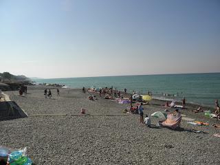 Пляж в Якорной щели