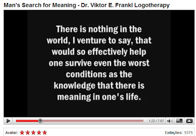 Viktor Frankl esperando o melhor aqui no good news
