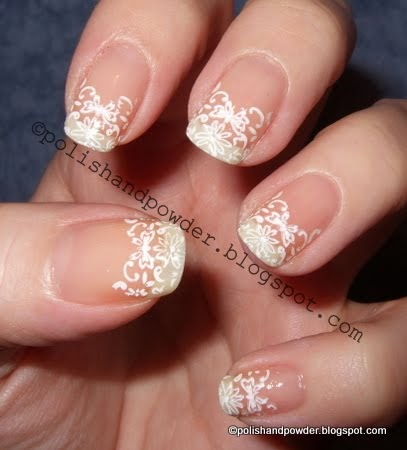 polish and powder konad m69  lace french