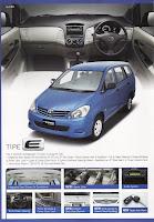 Brosur Toyota Innova 2009
