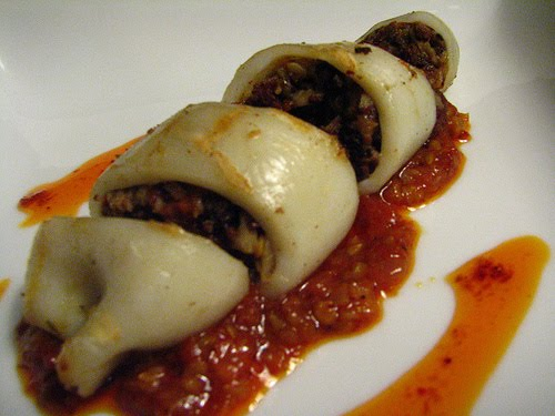 Stuffed Calamari Recipe Stuffed squid, for example.