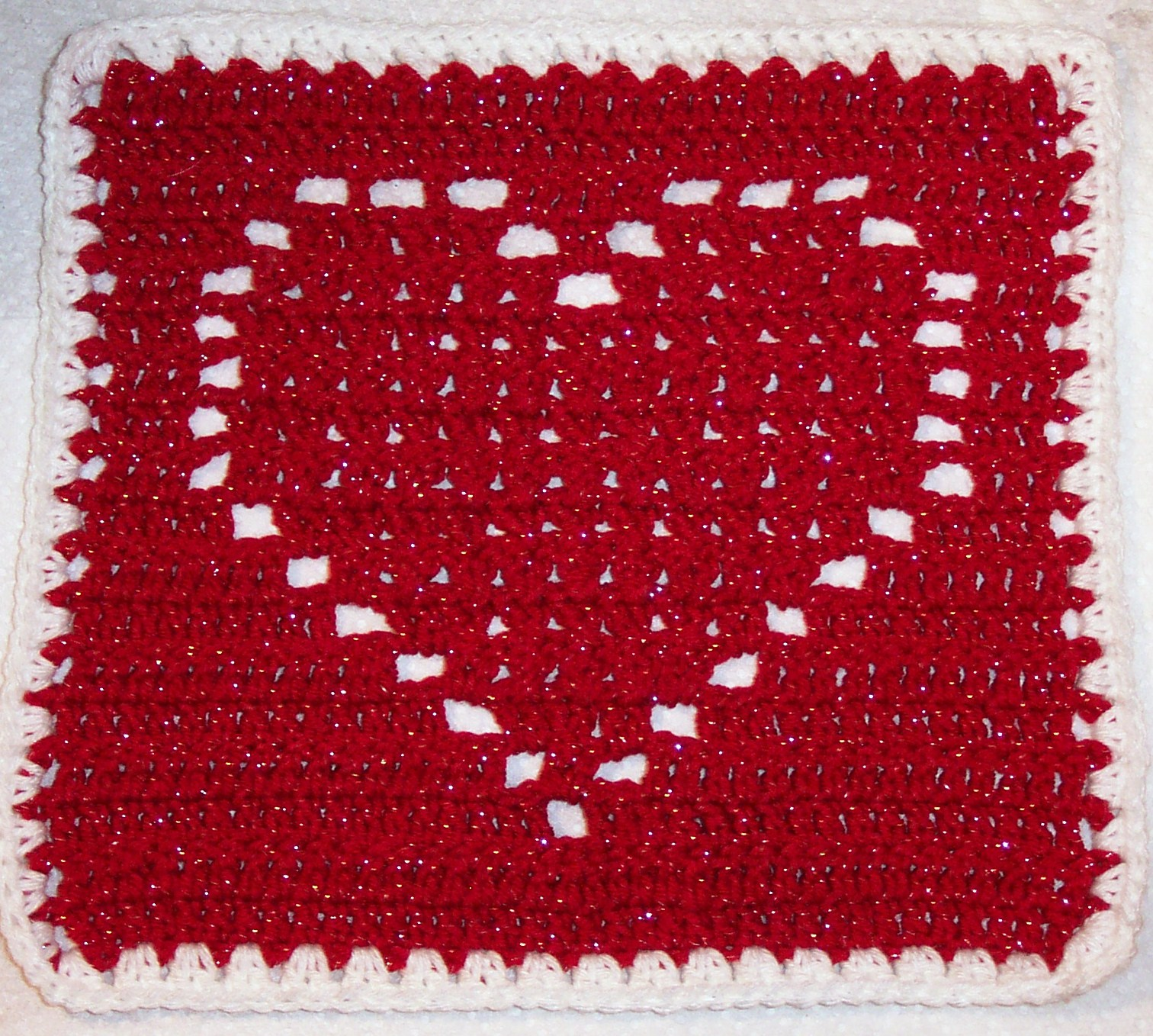 Crochet X Pattern : SmoothFox Crochet and Knit: SmoothFoxs Heart Square 12x12