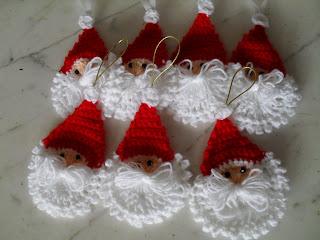 adornos de navidad tejidos a crochet