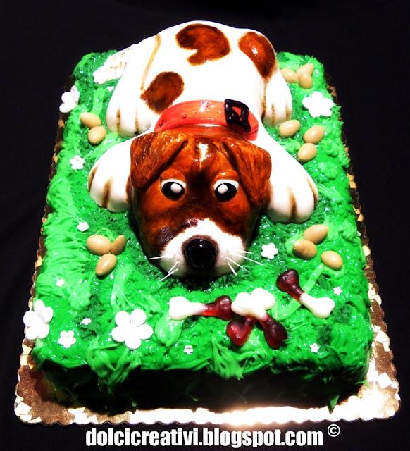 Torta Cane in 3d