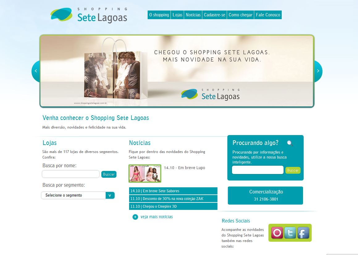 Site Sete Lagoas Shopping