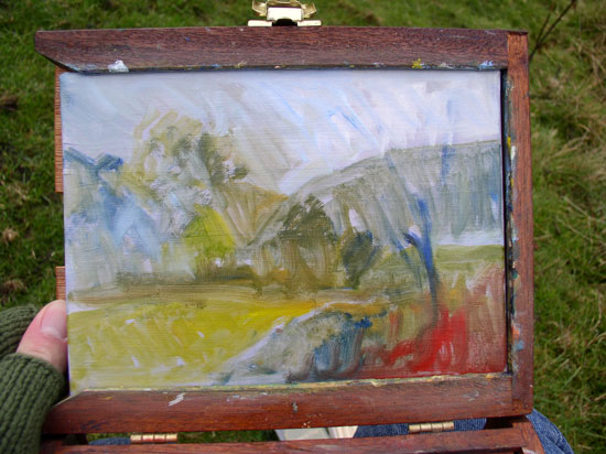 My French Easel Autumn Walk In Clouts Wood My Week End