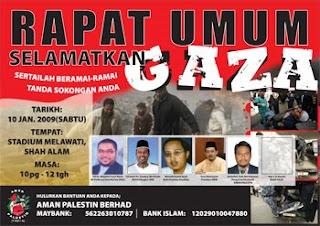 Rapat Umum Selamatkan Gaza