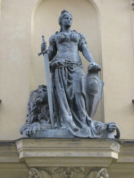 Statue Of A Viking Woman-Warrior