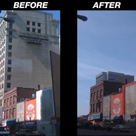 Building Demolition Before And After : The detroit times lafayette building in downtown