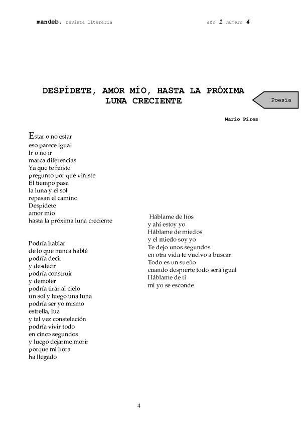 Maldici n poeta mandeb revista literaria 4 for Proxima luna creciente