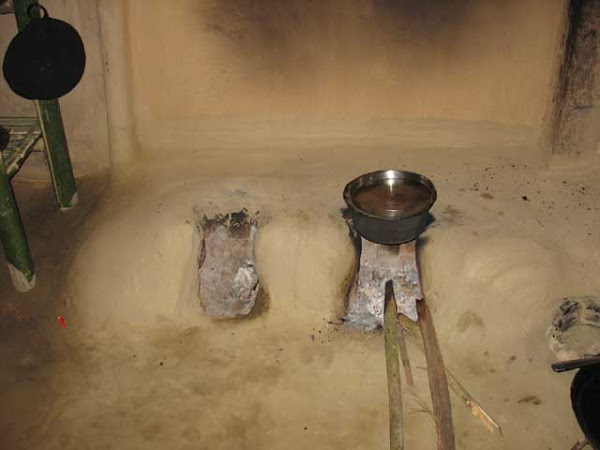 A typical Assamese fire place (Juhaal)