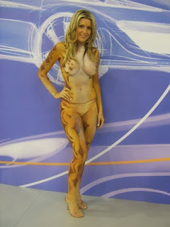 sexy girl body painting art  with a variety of colors and images