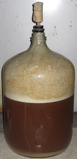 Yeast spews from the airlock, thanks to some very happy yeast