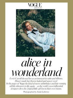 Alice in Wonderland Annie Leibovitz Vogue