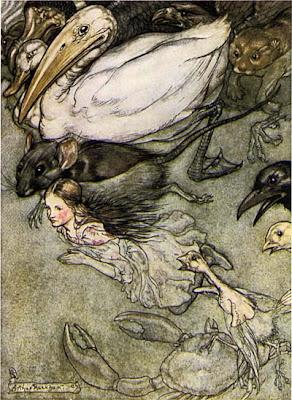 Alice la mare aux larmes Arthur Rackham