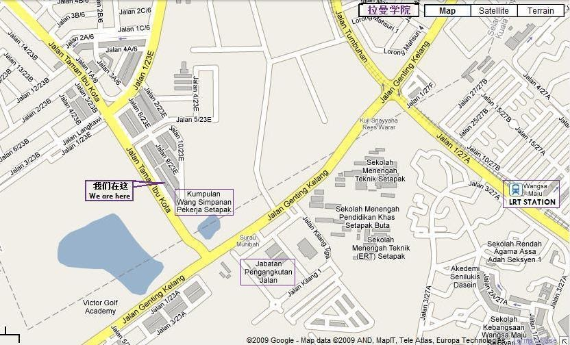Mca Wangsa Maju Mca Wangsa Maju Location Map