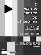 Mostra Índice de Vídeo Arte - Recife/PE