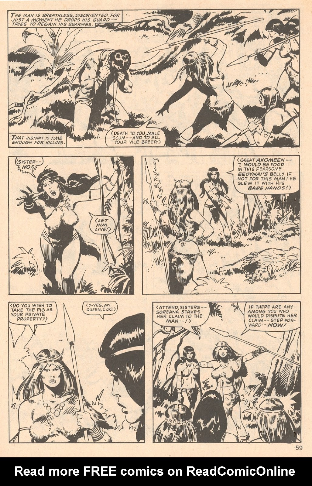 The Savage Sword Of Conan Issue #66 #67 - English 59