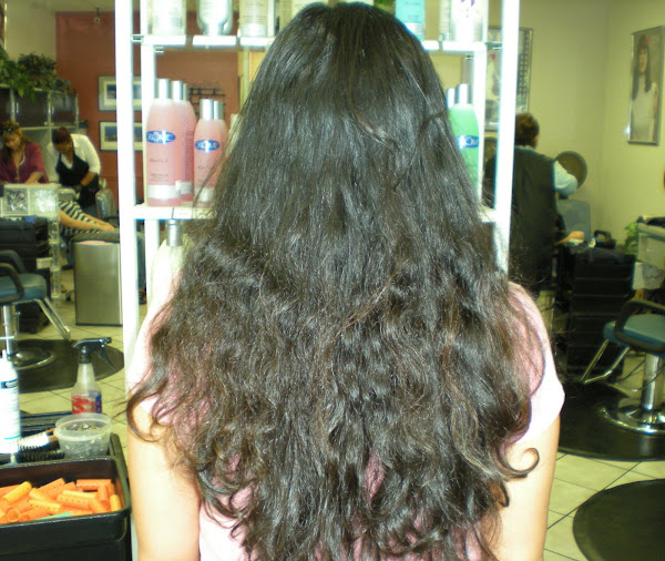 Hair Therapy on Before Keratin Complex Hair Therapy Treatment