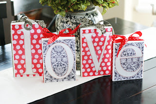 DIY LOVE Blocks | DIY Valentine Decor | Valentine Crafts