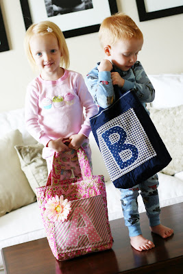 DIY Monogram Bags | Sewing