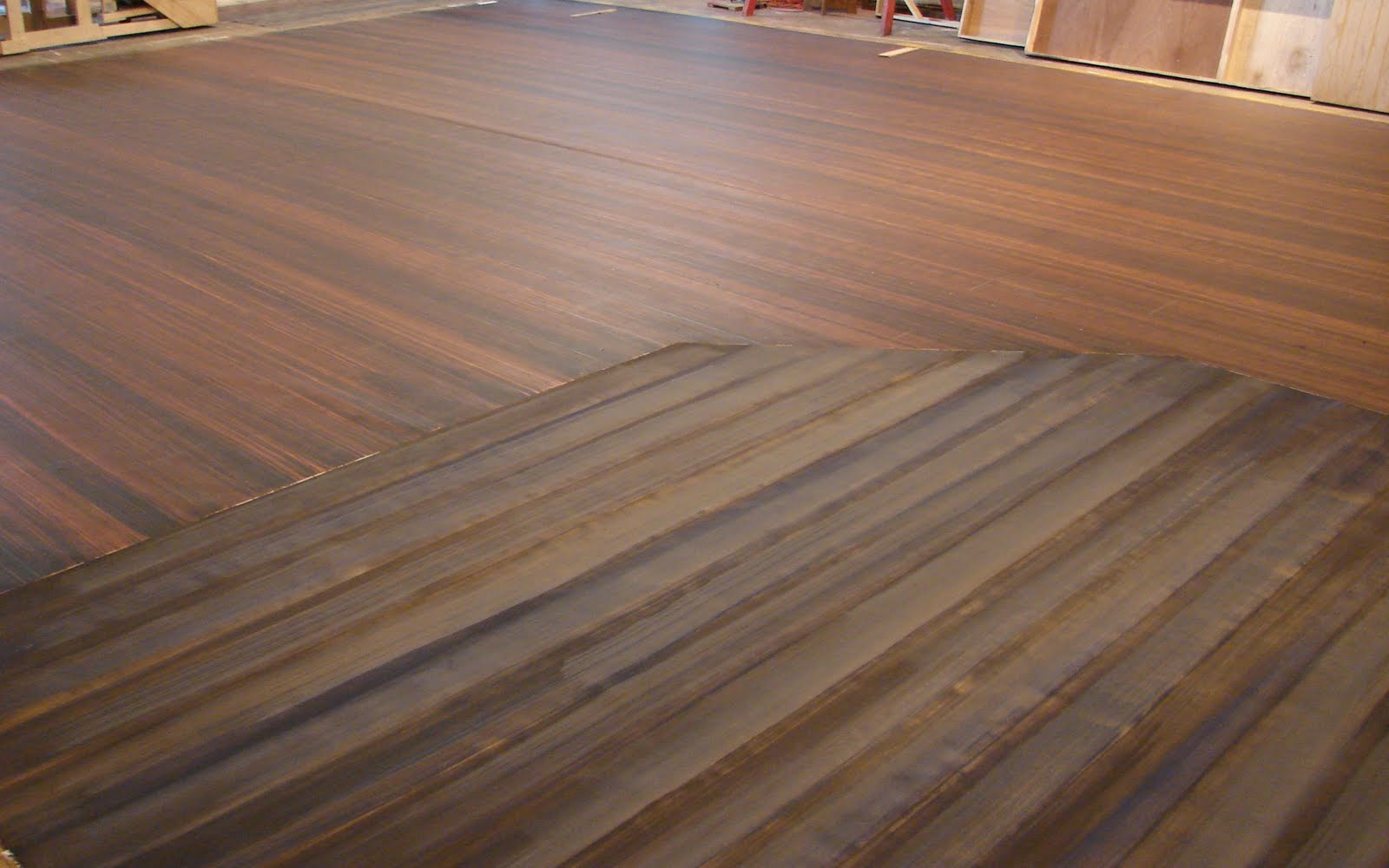 Crystal pich faux wood floor with porch inset scenic for Faux wood flooring