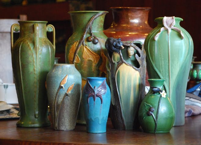 New arrivals from jemerick art pottery ephraim faience pottery