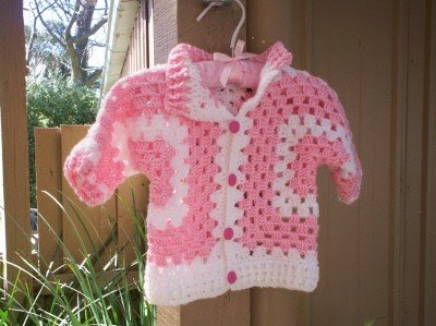 granny square sweater | baby sets crochet | Pinterest