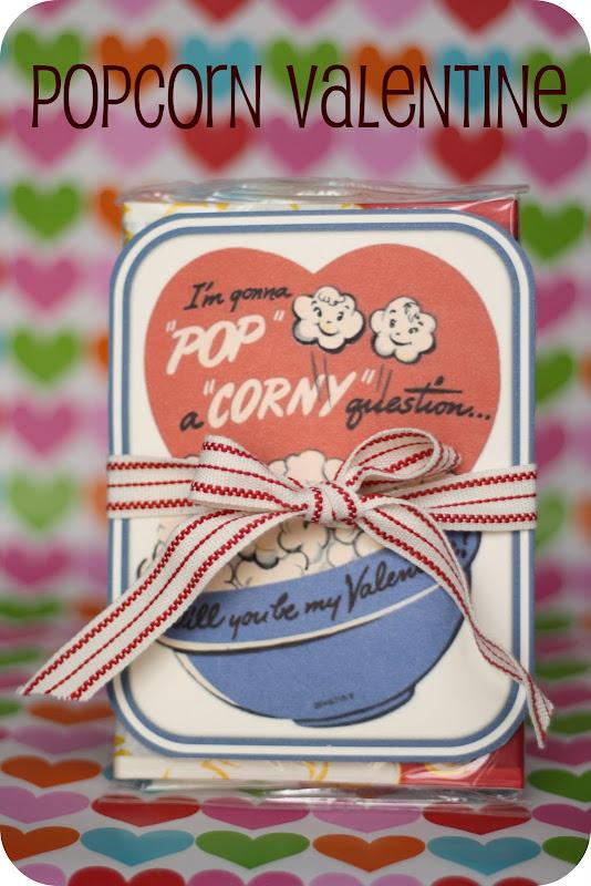 corny popcorn valentine